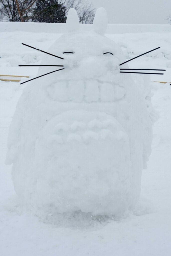 Totoro Snow Sculpture at the Asahikawa Winter Festival 2018
