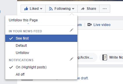 Facebook Page Se