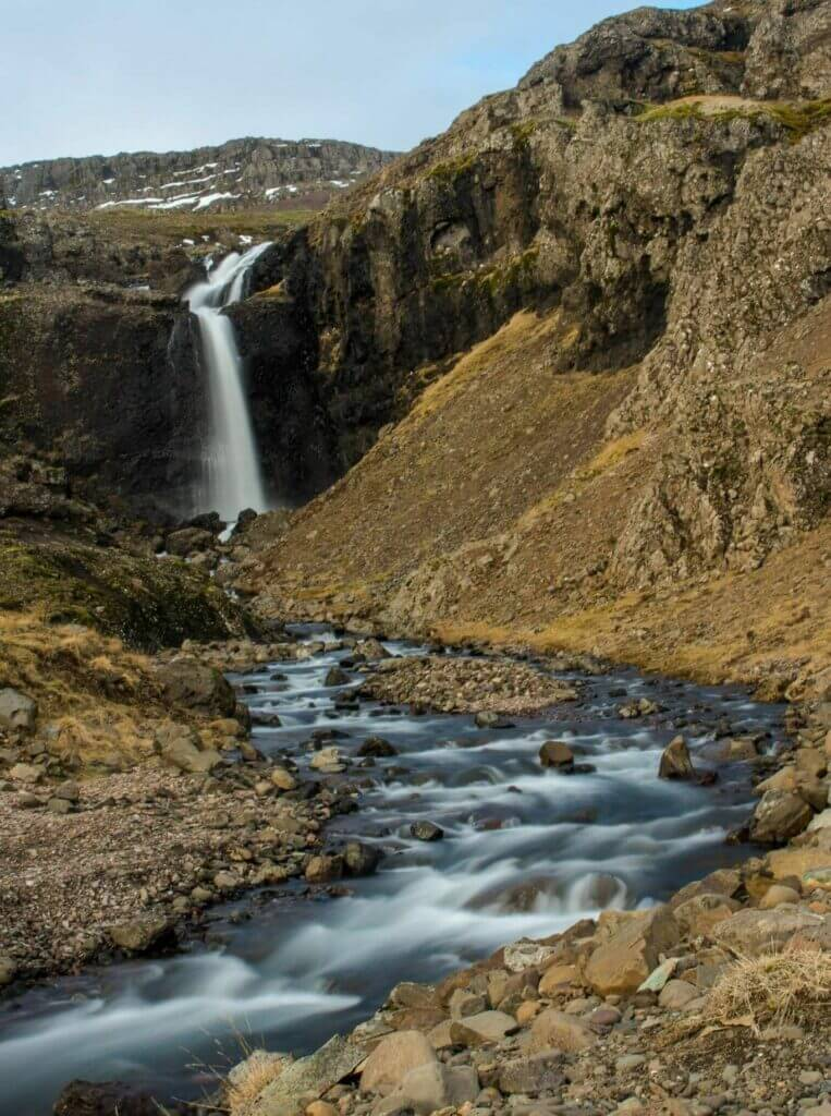 Waterfall at Roadside, Iceland
