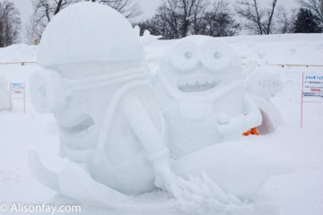 Minions Snow Sculpture