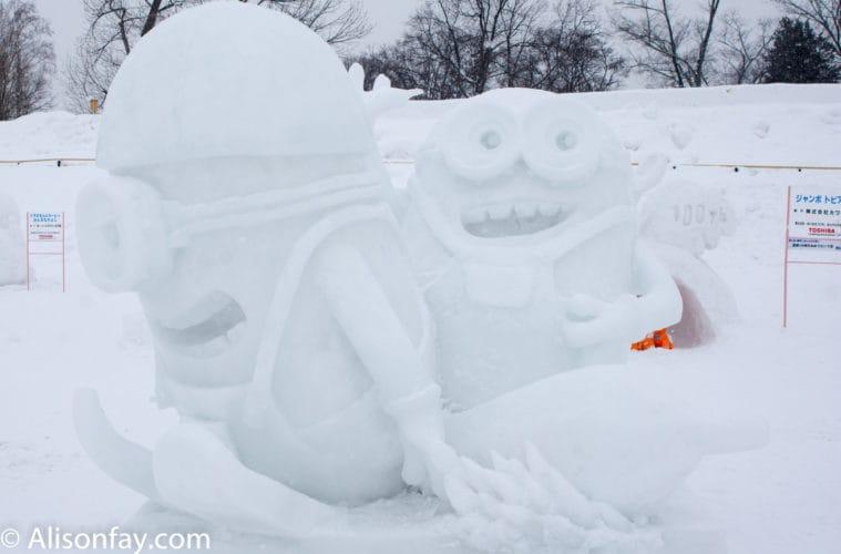 Minions Snow Sculpture
