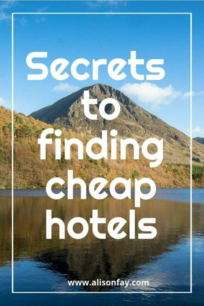 Secrets to finding cheap hotels
