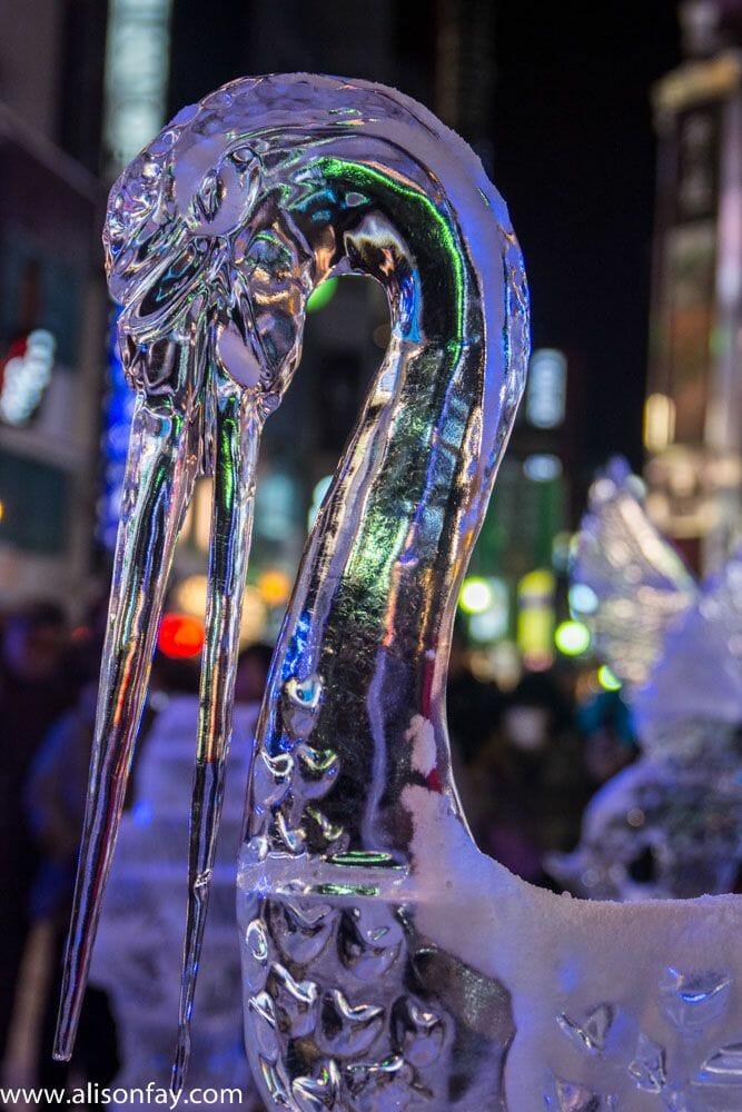 Bird sculpture at the Sapporo Snow Festival