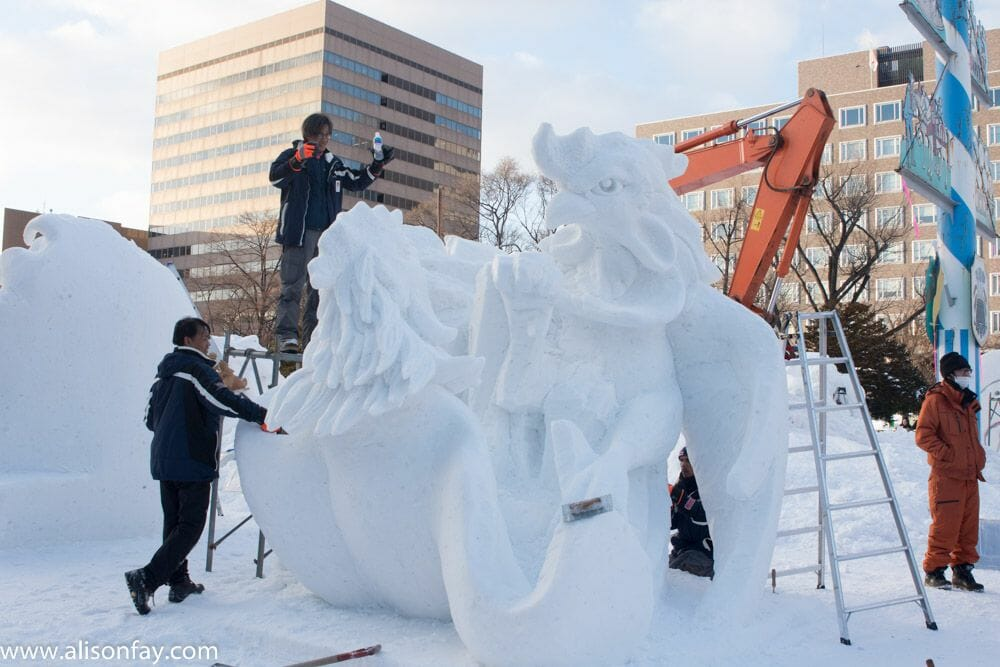 Thailand's entry into the Sapporo Snow Festival