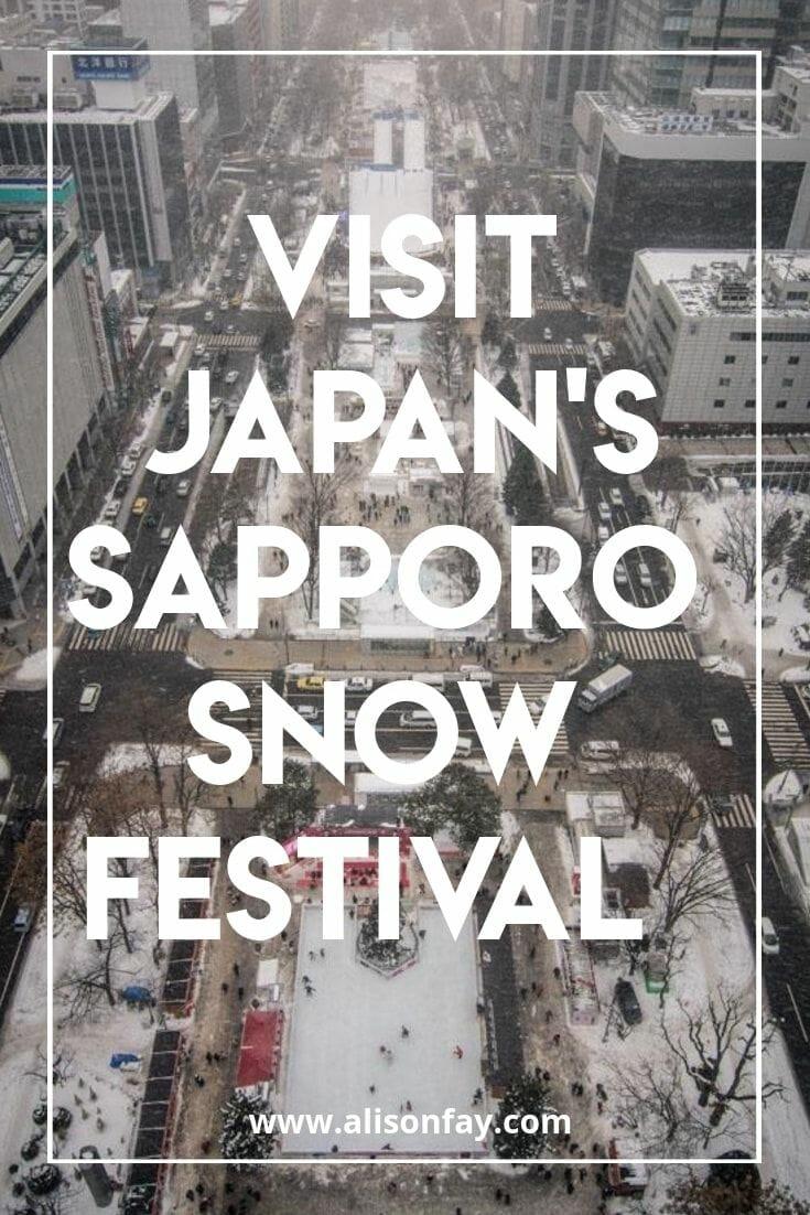 Visit Japan's Sapporo Snow Festival Pinterest