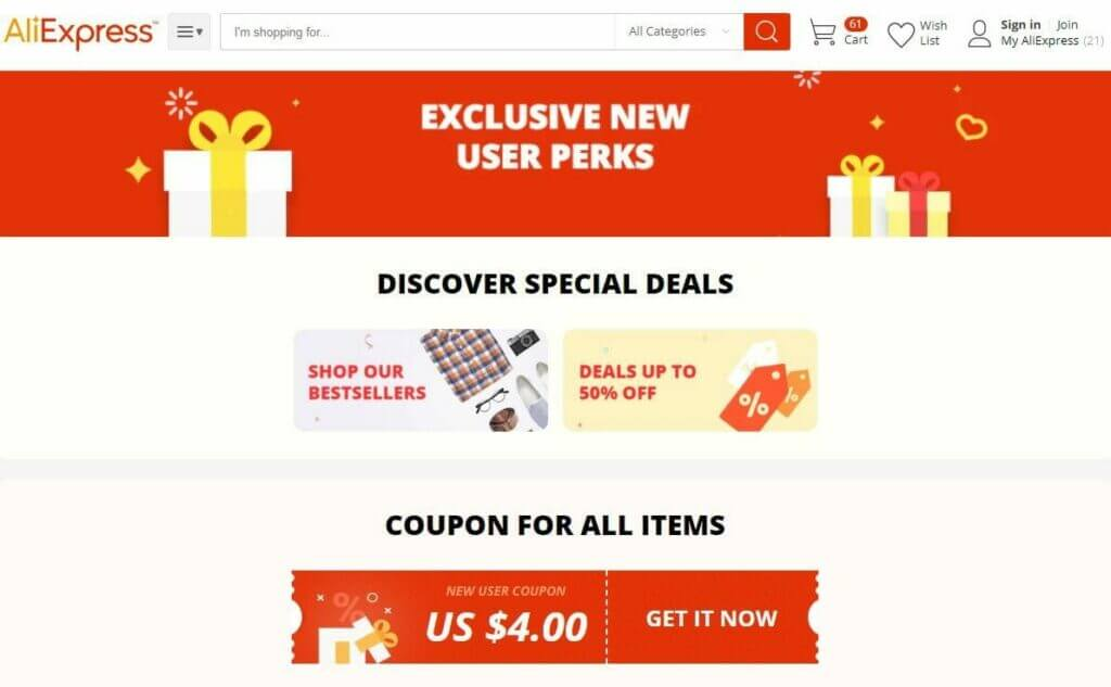 Aliexpress new member discount