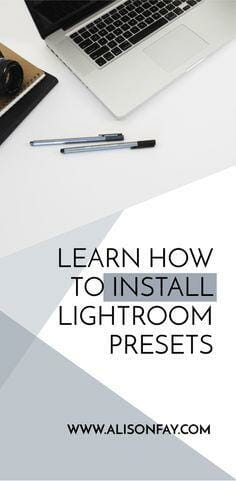 How to install lightroom presets - Alison Fay Travel & Nature Photography