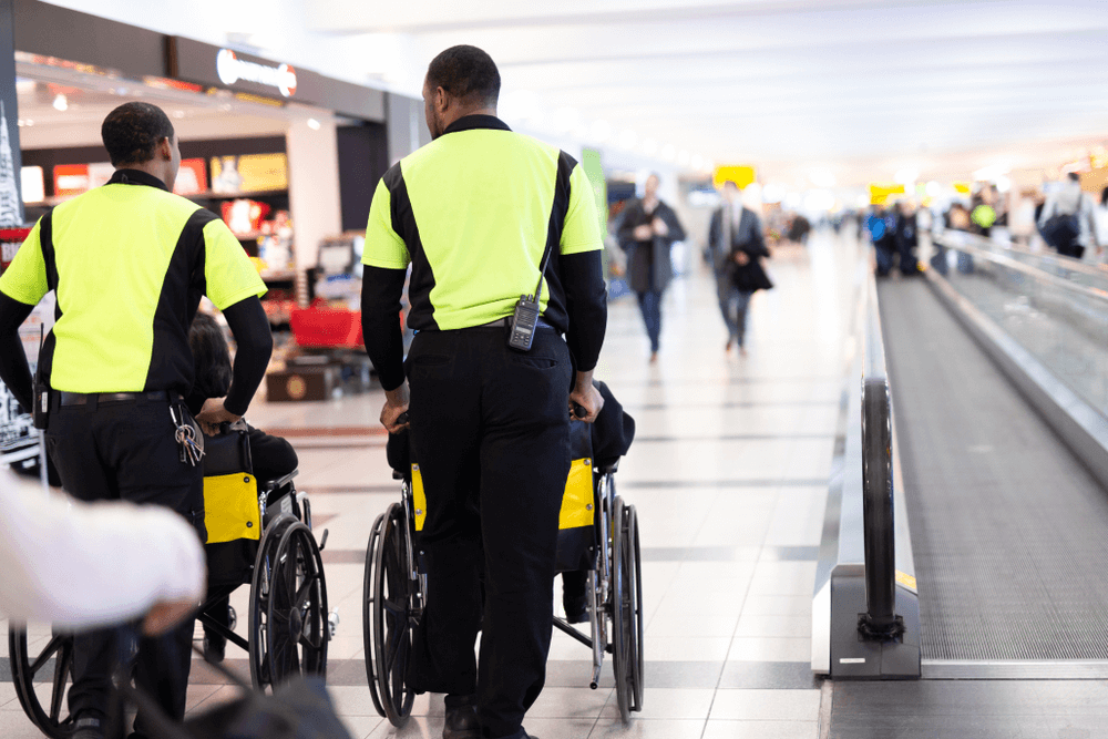Special assistance at the airport for disabled passengers