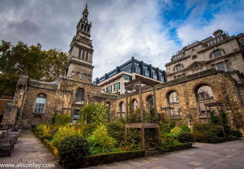 Church Ruins in London Travel Photography