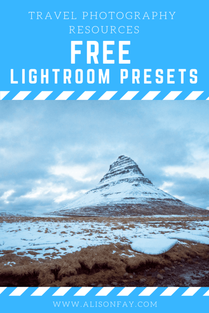 Adobe LIghtroom Presets by alisonfay.com pin