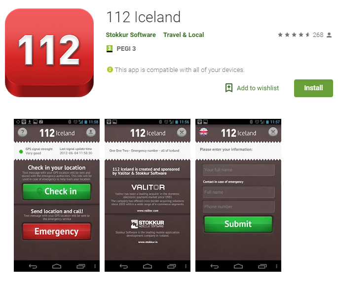 112 Iceland App for Roadtripping in Iceland