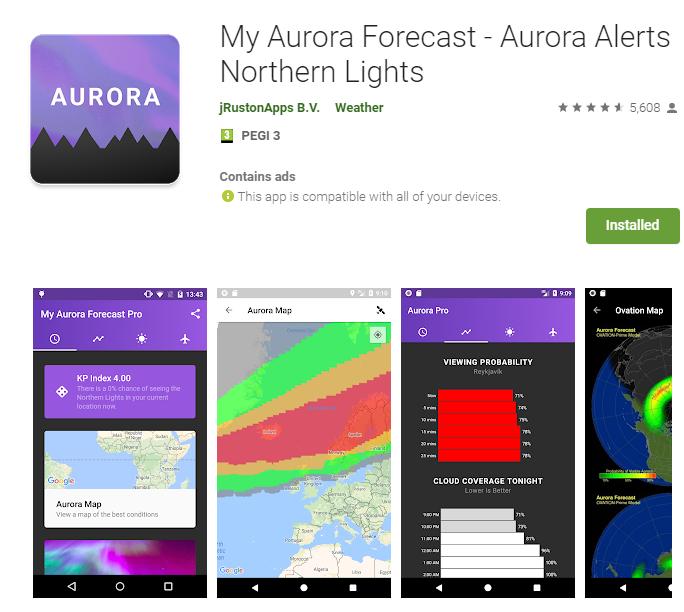 My Aurora Forecast, Iceland Aurora Tracking app