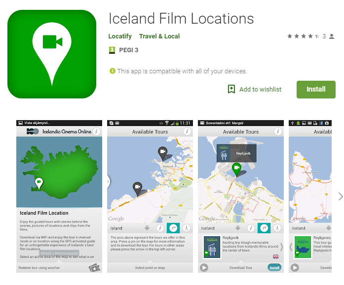 Iceland Film Locations Travel App