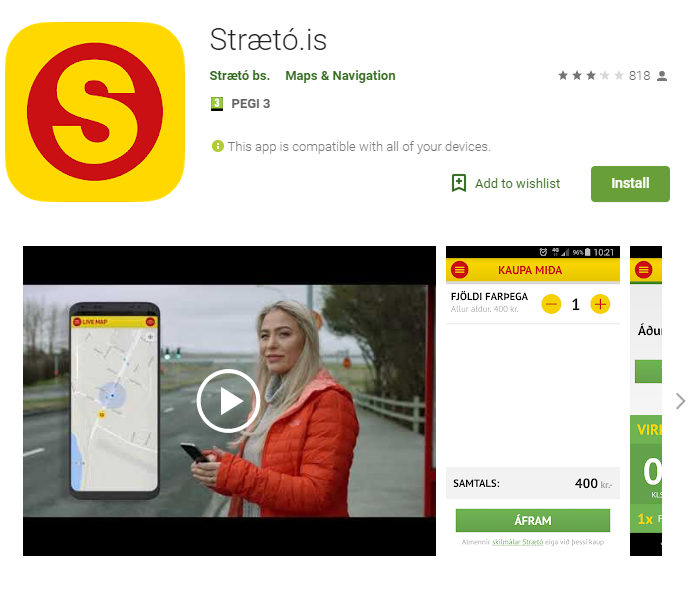 Strætó.is Bus Planning App for Roadtripping in Iceland