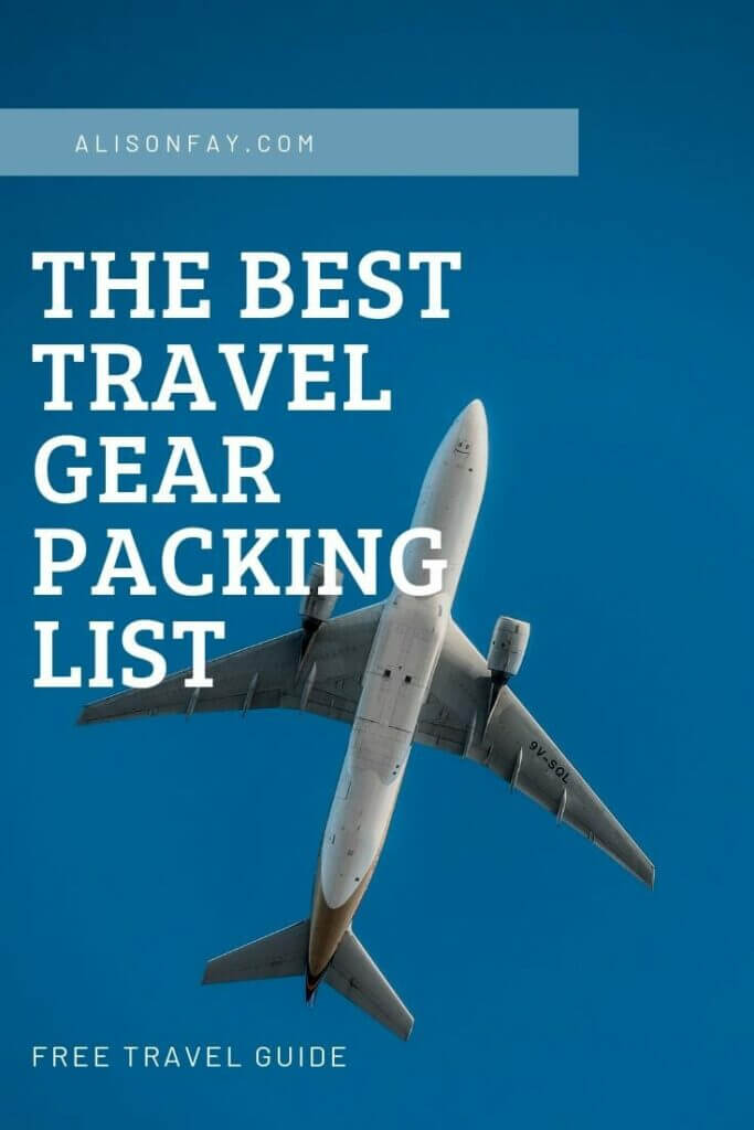 Pin image for the best travel packing list