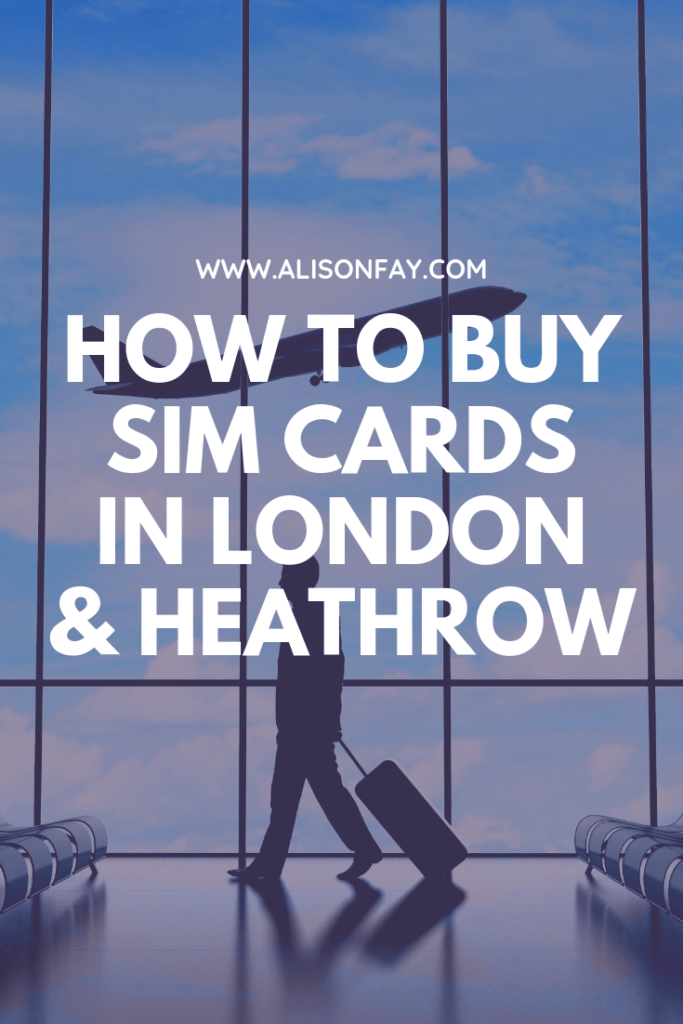Pin image for How to buy sim cards in London & Heathrow airport